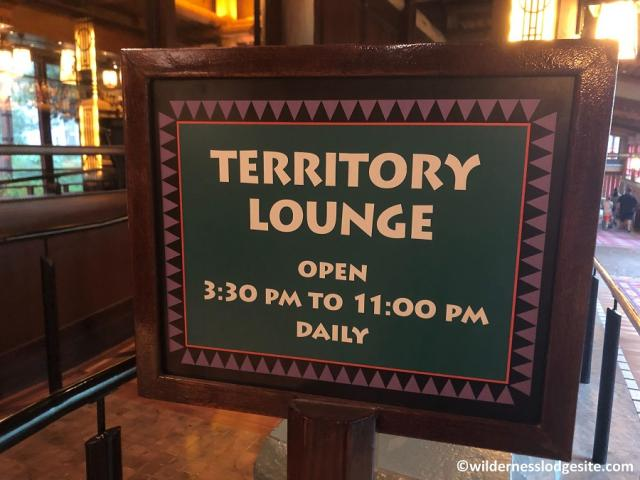 Territory Lounge sign